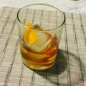 a glass of bourbon